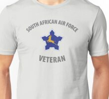 South African Air Force (SAAF) Veteran (Springbok Grey Text) Unisex T-Shirt