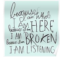 I am Listening (Poetry) Poster