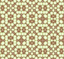 Brown, Green and White Abstract Design by Mercury McCutcheon