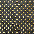 RUSTIC CONFETTI polka dot pattern gold foil effect gray chalkboard by Kat Massard
