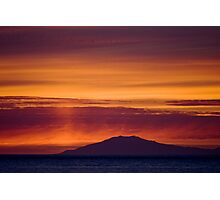 Sunset over the gateway to the center of earth Photographic Print