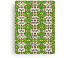 Green, Purple and Gold Abstract Design Pattern Canvas Print