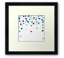 CONFETTI SPOT modern bright colourful fun pattern Framed Print