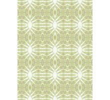 Green, Purple and White Abstract Design Pattern Photographic Print