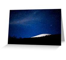 Moonlit Mauna Kea Summit Greeting Card