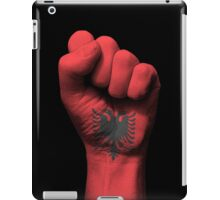 Flag of Albania on a Raised Clenched Fist  iPad Case/Skin