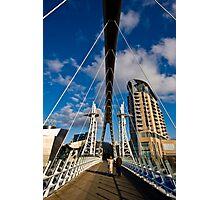 Millenium Bridge, Salford Quays Photographic Print