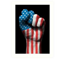 Flag of USA on a Raised Clenched Fist  Art Print