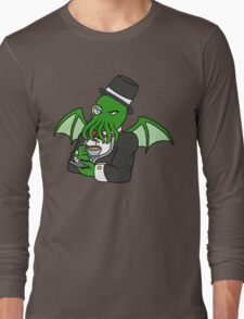 Gentlemanly Cthulhu Long Sleeve T-Shirt