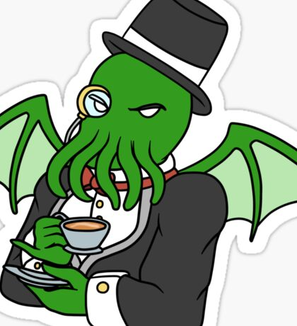 Gentlemanly Cthulhu Sticker