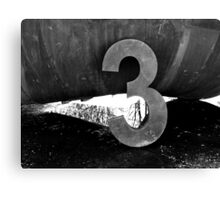 3...It's the Magic Number Canvas Print