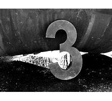 3...It's the Magic Number Photographic Print