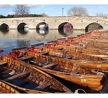 row of rowers Photographic Print