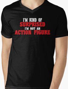 I'm kind of surprised i'm not an action figure Funny Geek Nerd Mens V-Neck T-Shirt