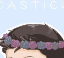 cas in a flower crown Sticker