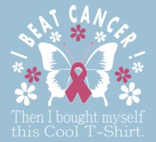 I Beat Cancer Cool T Shirt Kids Tee