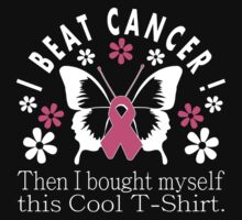 I Beat Cancer Cool T Shirt One Piece - Short Sleeve