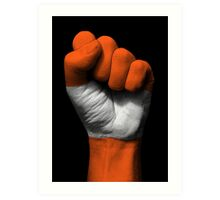 Flag of Austria on a Raised Clenched Fist  Art Print