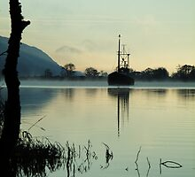 A boat on the Caledonian Canal  by MistyIsle