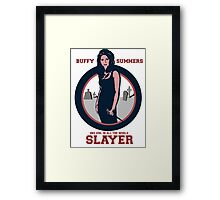 SHE IS THE SLAYER Framed Print