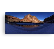 Unaweep Canyon, Frozen Dolores River Canvas Print