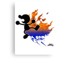 Super Smash Bros - Mr. Game & Watch Canvas Print