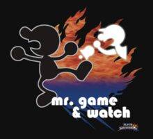 Super Smash Bros - Mr. Game & Watch by phoenix529