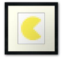 Pacman Pixel Framed Print