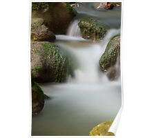 Running water cascading in Fornant river Poster