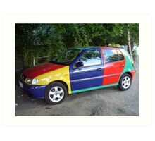 Colourful car... Art Print