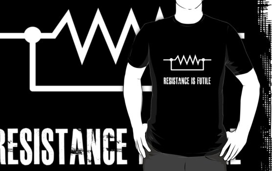 Resistance is futile - White foreground by Hokurai