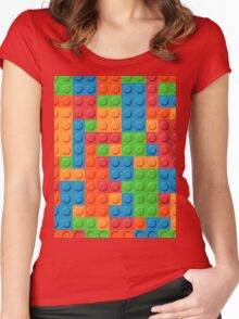 COLOR BLOCKS! Women's Fitted Scoop T-Shirt
