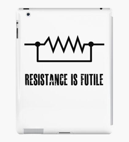 Resistance is futile - black foreground iPad Case/Skin