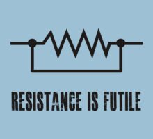 Resistance is futile - black foreground Kids Clothes