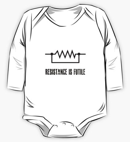 Resistance is futile - black foreground One Piece - Long Sleeve