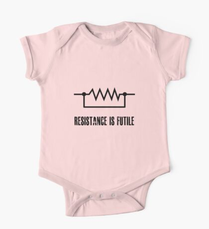 Resistance is futile - black foreground One Piece - Short Sleeve