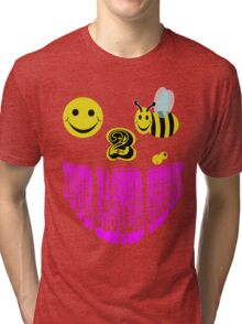 Happy 2 bee your easter chick Tri-blend T-Shirt
