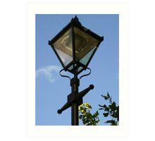 a Lamp over the blue sky Art Print