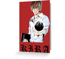 Kira 3 - Death Note Greeting Card