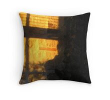 waiting for the night to fall Throw Pillow