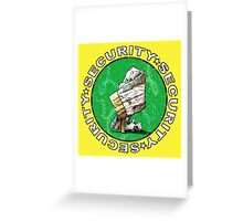 The Magical Security Blanket (yellow) Greeting Card