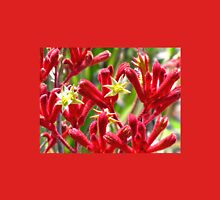 Red Kangaroo Paw Womens Fitted T-Shirt
