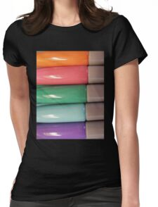 Pastel Markers Womens Fitted T-Shirt