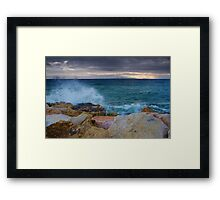 Crimson Winds Framed Print