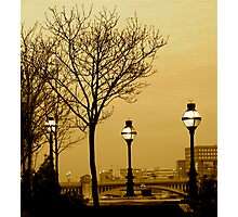 SEPIA DUSK IN LONDON Photographic Print