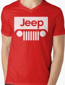 Jeep Funny Geek Nerd Mens V-Neck T-Shirt