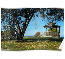 Gazebo and Apples Poster