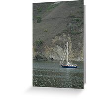 lone boat california Greeting Card