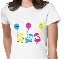 Happy Easter eggs Womens Fitted T-Shirt
