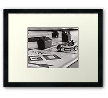On the boardwalk Framed Print